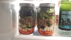 Mason jar salads for lunch